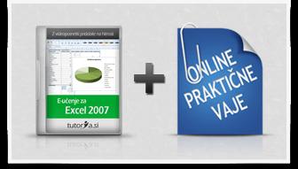 Excel 2007 + praktične vaje