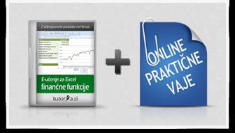 Excel finančne funkcije + praktične vaje