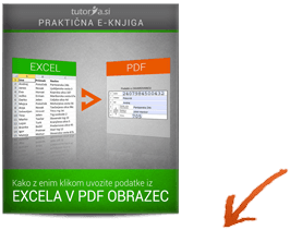 Excel v PDF obrazec - z enim klikom uvozite podatke